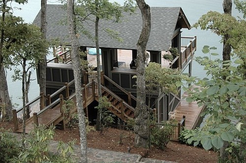 georgianadesign:  Boat house on Lake Burton, GA. Kemp Hall Studio.