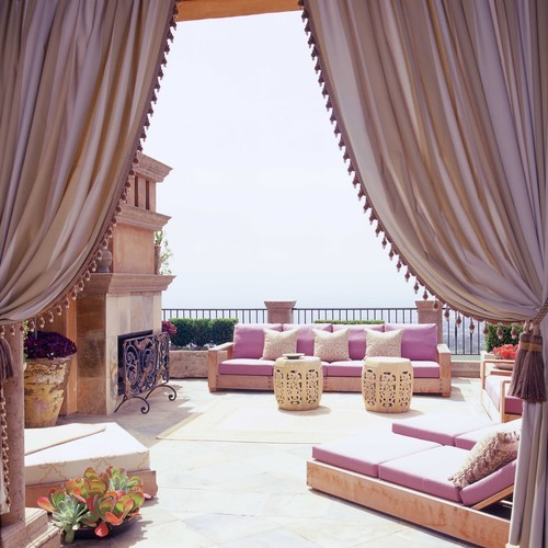 georgianadesign:  Palatial pink on the Newport Coast, CA. Wendi Young Design.