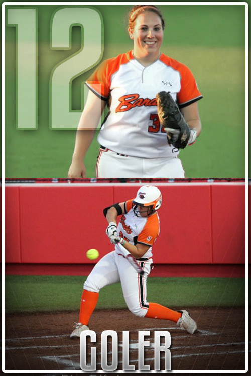 Ranking the top 15 NPF players of the 2012 season to countdown to the Pro Fastpitch Playoffs  #12 Alisa Goler, Chicago Bandits, 1B Chances are, if you have watched Megan Wiggins, you've seen Alisa Goler as well. The two have been playing together since 2008 at the University of Georgia. Even though the Bandits drafted Dorian Shaw to be the first baseman last season, it was Goler who earned the job instead and made a big name for herself on the field. Goler batted an impressive .327 on her way to the Miken Rookie of the Year award. Her 11 home runs where enough to lead the league. 2012 has seen Goler split a lot of time at 1B with rookie Adrienne Monka but Alisa still finds her way into the batting lineup as the DP. Her numbers have seen a slight dip from last year which could be credited to the way pitchers attack her now. Her home run total sits at just 4 but she still has seen her extra base hits total increase from last season. She is still a big time threat in the dangerous Bandits lineup.  #11 find out August 11th#12 Alisa Goler, Chicago Bandits, 1B#13 Megan Wiggins, Chicago Bandits, OF#14 Ashley Charters, USSSA Pride, 2B#15 Natasha Watley, USSSA Pride, SS Keep in mind, these rankings are in my opinions based on stat books and what I have seen on the field this season in the games I have attended or watched online.
