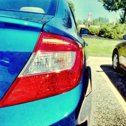 #honda #civic #2012 #hondalove #honda4life #hondaforlife #blue #pearl #creeper #taillight #follow #followme #ig #instagram  (Taken with Instagram at Target)