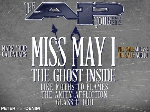 Los días para el AP Tour se han anunciado. Los días y lugars son: 10-16 New Haven, CT (Toad's Place)10-17 New York, NY (Irving Plaza)10-18 Boston, MA (Royale Night Club)10-19 Philadelphia, PA (Theatre of the Living Arts)10-20 Sayerville, NJ (Starland Ballroom)10-21 Baltimore, MD (The Recher Theatre)10-23 Norfolk, VA (The Norva)10-24 Charlotte, NC (Amos' Southend Music Hall)10-25 Atlanta, GA (The Masquerade)10-26 St. Petersburg, FL (State Theatre)10-27 Ft. Lauderdale, FL (Revolution)10-28 Orlando, FL (House of Blues)10-30 Houston, TX (House of Blues)10-31 Dallas, TX (House of Blues)11-01 San Antonio, TX (Backstage Live)11-03 Mesa, AZ (The Nile)11-04 San Diego, CA (House of Blues)11-06 Los Angeles, CA (House of Blues)11-07 Anaheim, CA (House of Blues)11-08 Sacramento, CA (Ace of Spades)11-09 Portland, OR (Hawthorne Theater)11-10 Seattle, WA (El Corazon)11-12 Salt Lake City (In The Venue)11-13 Denver, CO (Summit Music Hall)11-15 Minneapolis, MN (Station 4)11-16 Sauget, IL (Pops)11-17 Chicago, IL (House of Blues)11-18 Grand Rapids, MI (The Intersection)11-20 Pittsburgh, PA (Altar Bar)11-21 Cincinnati, OH (Bogart's)11-23 Detroit, MI (St. Andrews Hall)11-24 Cleveland, OH (House of Blues)