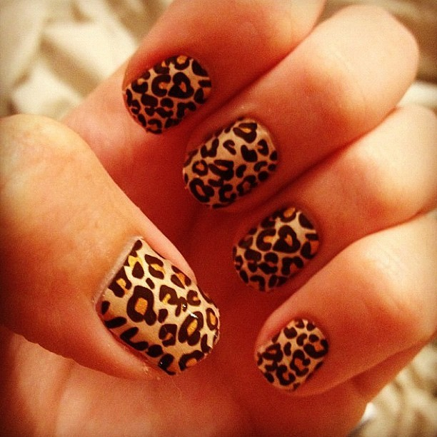 LOVING our girl @nicbalais' nails!!! 🐯⚡ #cheetahprint #nails #nailart #obsessed #animalprint #ishine365 #shining (Taken with Instagram at www.ishine365.com)
