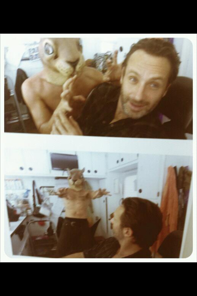 lilithkiss2010:  Andrew Lincoln and the Weresquirrel (Norman Reedus) ;)