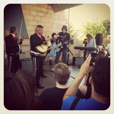 """Jack White at Mariachi Square in Boyle Heights"" Here is a shot of Jack White from another fine photographer friend and fellow beadsman, Jason Barbagelott (pretty sure his name means beard something in some language)."