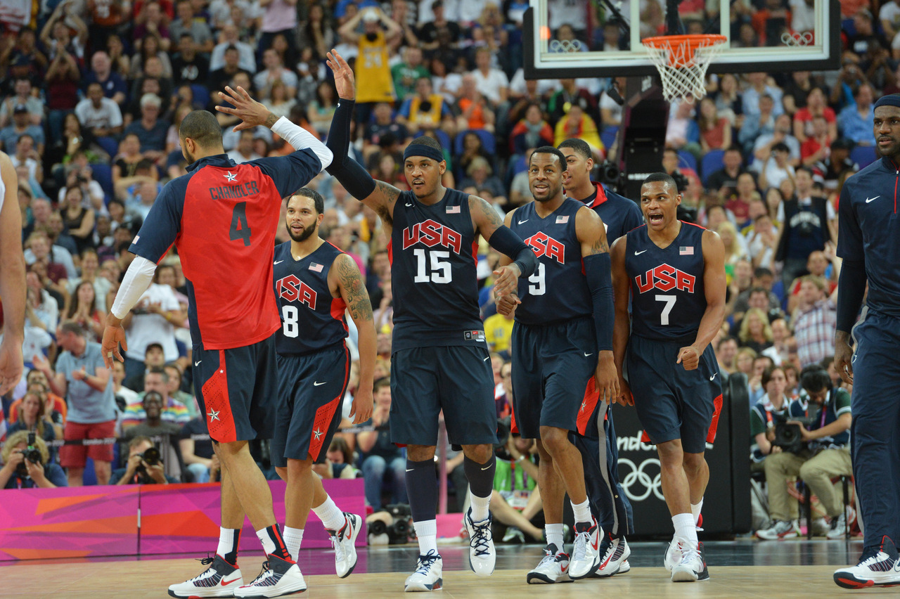 nba:  August 10, 2012: USA Basketball defeats Argentina 109-83 in Semifinals at 2012 Olympics.    (Photo by Jesse D. Garrabrant/NBAE via Getty Images)