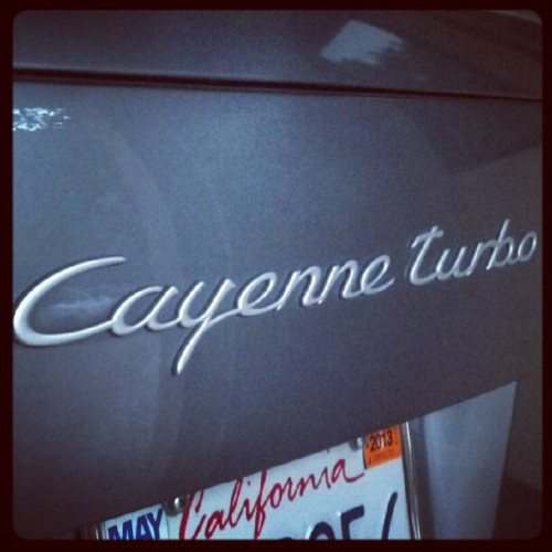 #porsche #cayenne #turbo Mom's ride (Taken with Instagram)