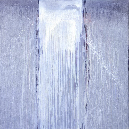 Pat Steir White Moon Waterfall, 2006 oil on canvas 72 x 72 inches