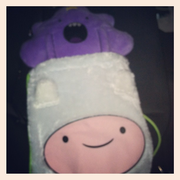 LOOK WHAT MY FRIEND GOT ME FOR A GOING AWAY PRESENT #lsp #lumpyspaceprincess #adventuretime (Taken with Instagram)