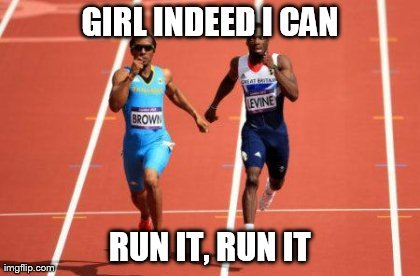 There's a Bahamian runner named Chris Brown. Somebody had to make this meme. So I did.