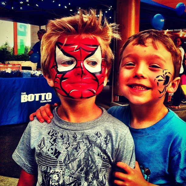 Spider Buddies! Thanx to the Botto team! #ig_kids #instagram_kids #lynnvalleylife #instagram #iphoneography #iphonesia #photooftheday #iphone #iphoneonly #jj #instagood #iphone4 #ig #igers #instagramhub #popular #instamood #northvancouver  (Taken with Instagram at Lynn Valley Village)