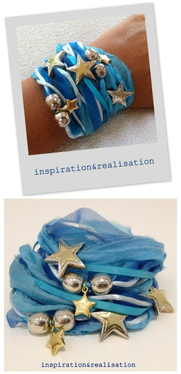truebluemeandyou:  DIY Ribbon and Silk Wrapped Charm and Bead Bracelet from inspiration & realisation here. Gorgeous upscale DIY bracelet from Donatella that reminds me of her Ripped Silk Pearl and Quartz Bead Bracelet I posted here. I love how she used ribbon, cord, silk etc… to construct the body of the bracelet. Also go to the link to see all the inspiration bracelets she has on polyvore.