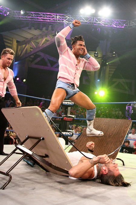 Robbie E and Robbie T take out Jeff Hardy on TNA Impact Wrestling: August 9, 2012 Nice gloating. [[MORE]]