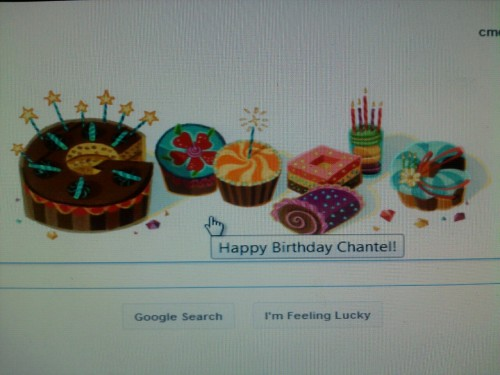 Google loves me! Haha! Seriously tho, I'm so blessed to see another year.  Lots time reflecting today! Anyway, happy birthday to me! =)
