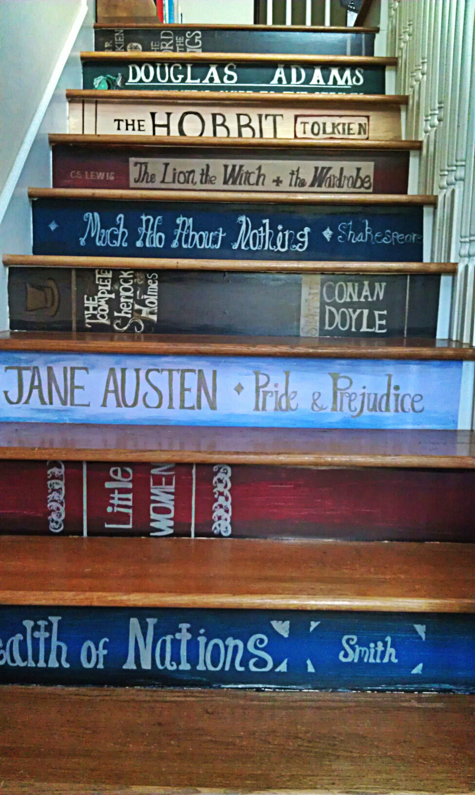 britishsupertramp:  I didn't even know I wanted this for my stairs until now…