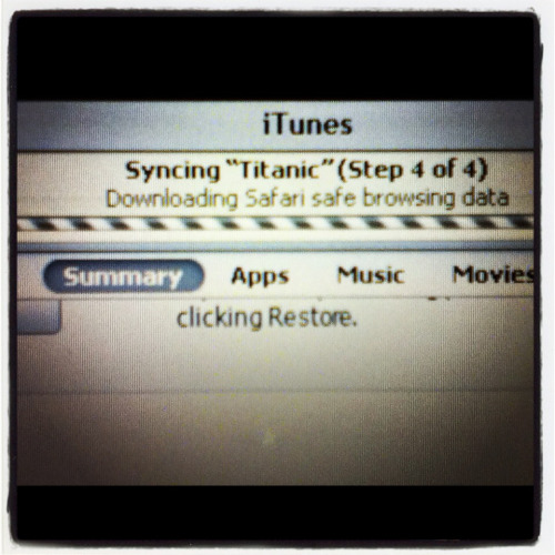 I named my new iPod Titanic purely for this reason