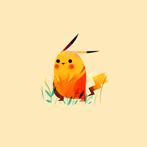 saveroomminibar:  'Pokemon' by Olly Moss.