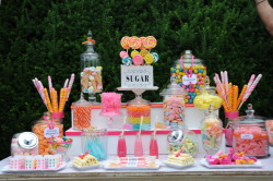 sallywilsonshops:  A Sweet Treat for Your Wedding Guests » Wedding Candy Table