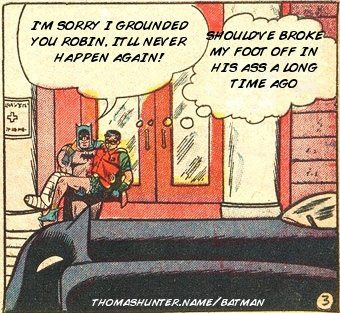 robin finally stood up to batman, and now he is running shit.