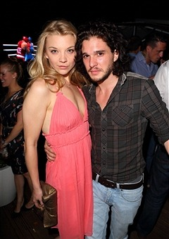 "with-eyes-averted:  Kit Harington & Natalie Dormer at OMEGA House ""Brazil Night Party"""