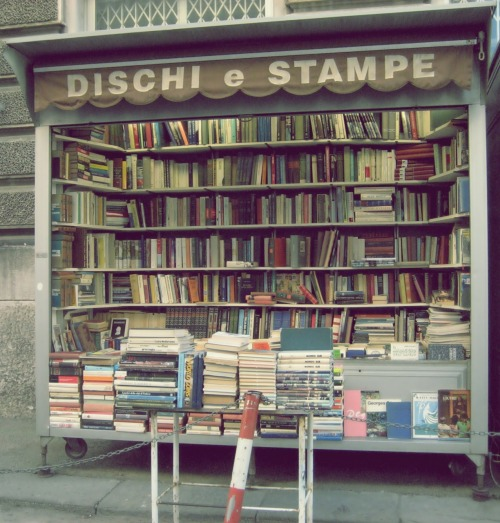 Bookshop with wheels. Trieste, Italy