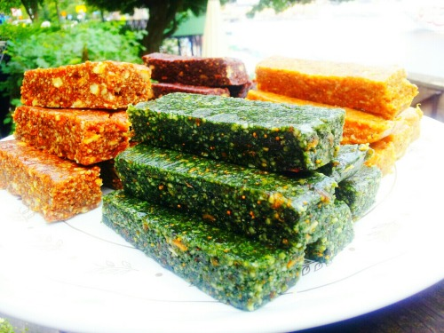 Raw Bars! Spirulina Vanilla Orange Cardamom Orange Cacao Licorice Cinnamon Ginger