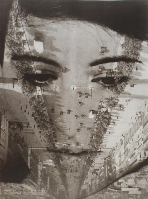 Aenne Biermann Portrait mit Champs-Elysees 1929