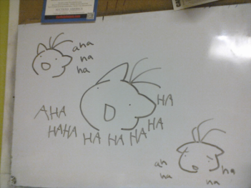 drew my reaction to a fan fiction on the white board in our kitchen my dad is gonna be confused as hell when he wakes up