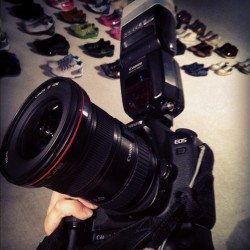 heavy as hell. #Canon#5D2#flash#580 (Taken with Instagram)