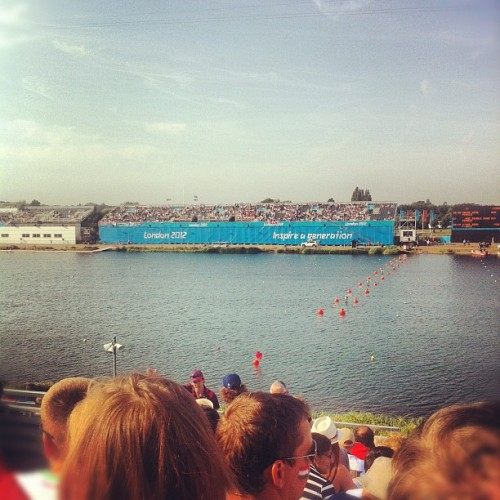 Men's 200m kayak final today #etondorney #day15 (Taken with Instagram at London 2012 Venue - Eton Dorney)
