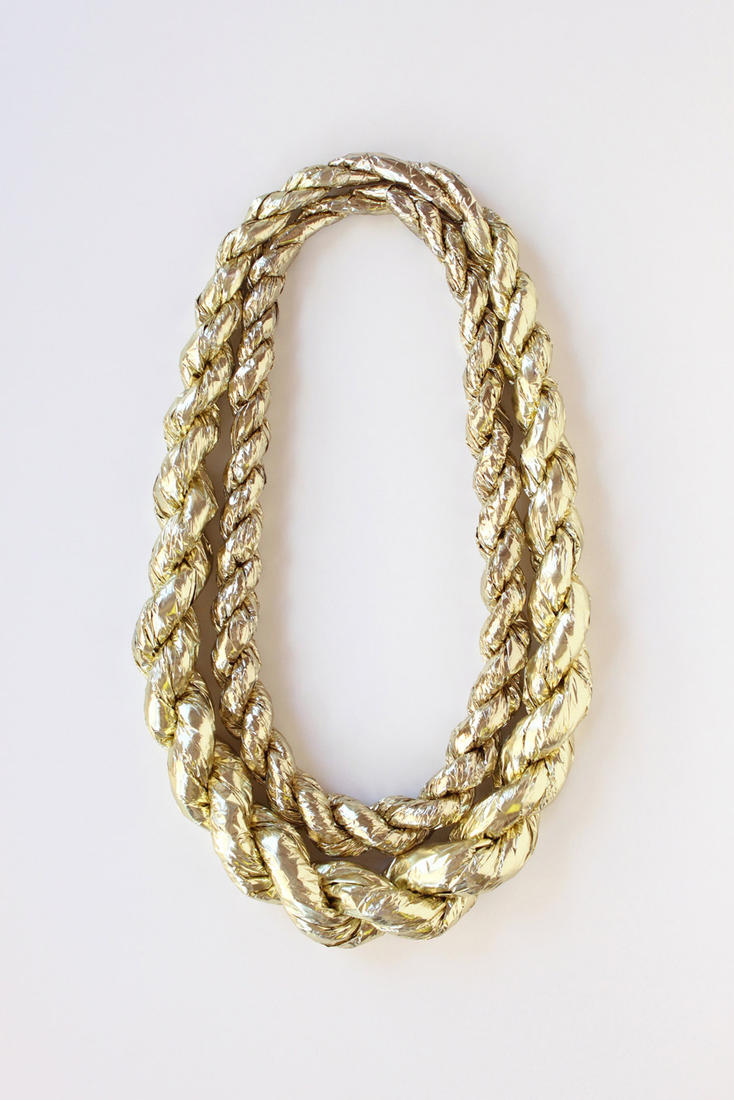 pouretrebelle:  Gold Rope confetti necklace by Confetti System