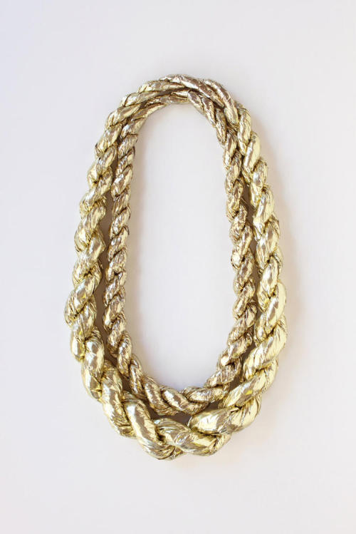 Gold Rope confetti necklace by Confetti System