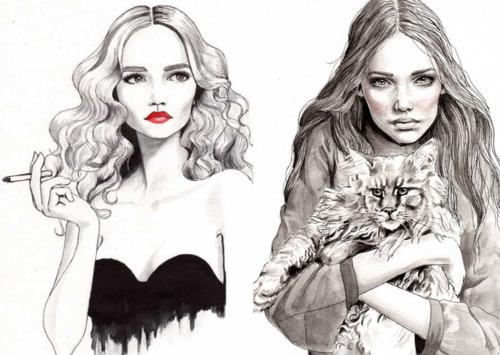 Drawings,Fashion,Ille,Illustrations,Schirin,