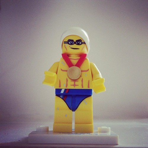 Lego Swimmer. #Lego #london2012 #swimming (Taken with Instagram)