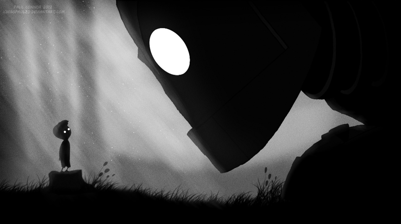 r3active:  Limbo x Spirited Away x My Neighbor Totoro x The Iron Giant x Princess Mononoke. Crossovers by Paul Connor on deviantART