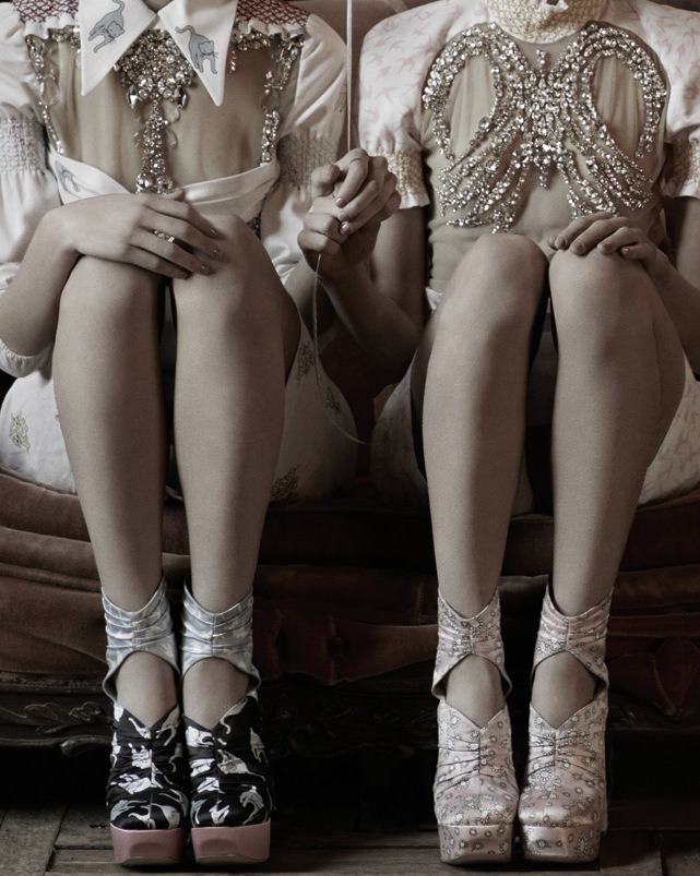tairadawn:  Ann Kenny and Kirby Kenny wearing Miu Miu Spring/Summer 2010 by Mark Segal for Interview Magazine