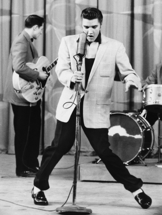 theniftyfifties:  Elvis Presley - gone 35 years today.  On the way to losing my phone Target today I was listening to the broadcast of the candle light vigil they hold for Elvis every year.  I cried.  I hope Cash Elvis loves his namesake as much as I do.