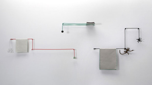 Towel Hanger by Hioomi Tahara  Simple is beautiful, creative and playful at times