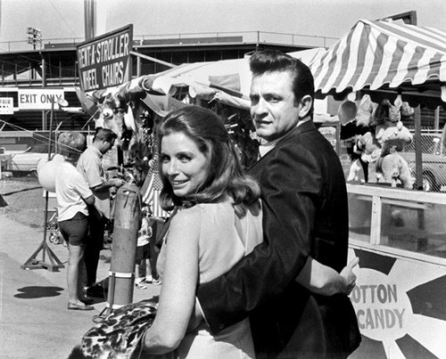 June Carter and Johnny Cash.