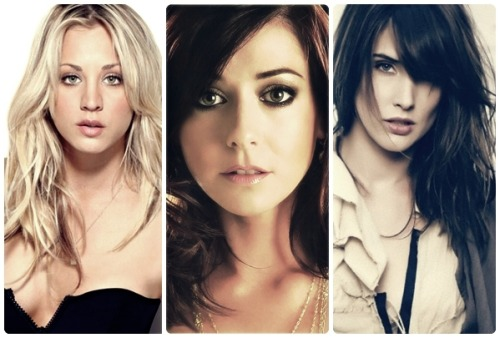 kaleycuocoph:  KALEY(PENNY) | ALYSON(LILY) | COBIE(ROBIN)  AWESOME GIRLS from The Big Bang Theory and How I Met Your Mother