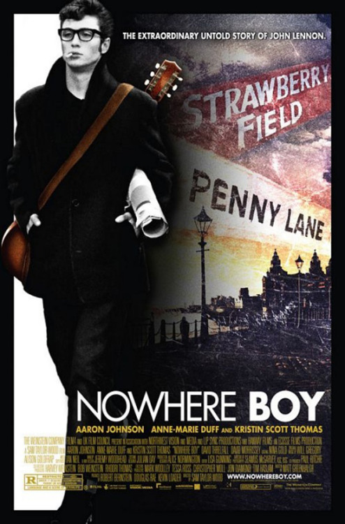 Nowhere Boy (2009)  A chronicle of John Lennon's first years, focused mainly in his adolescence and his relationship with his stern aunt Mimi, who raised him, and his absentee mother Julia, who re-entered his life at a crucial moment in his young life.  Cast: Aaron Johnson, Anne-Marie Duff, Thomas Brodie Sangster, Sam Bell Follow this blog for the neverending list of all the teen movies ever made!