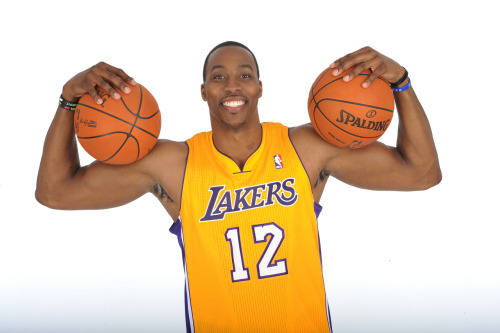 nba:  August 10, 2012: LA Lakers introduce Dwight Howard.  (Photo by Noah Graham/NBAE via Getty Images)  Life after Kobe.