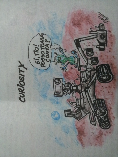:-) Curiosity cartoon in the local paper / caricatura de Curiosity no Zero Hora     - Posted using Mobypicture.com