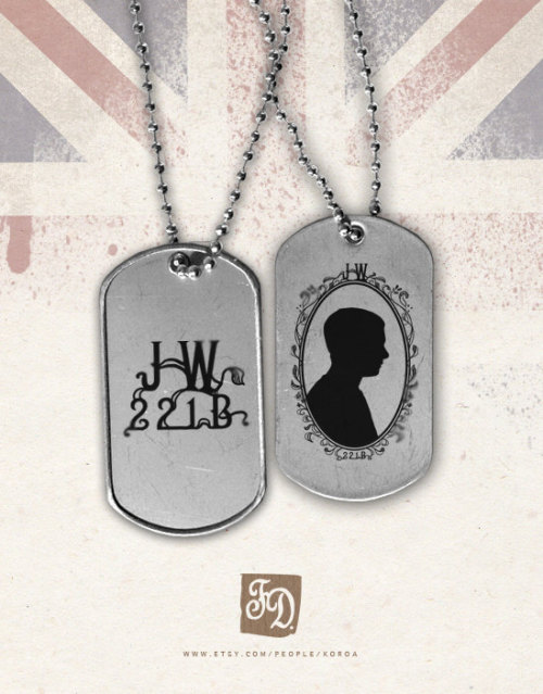 (via Pendant WATSON Sherlock cameo dog tag by FeerieDoll on Etsy)