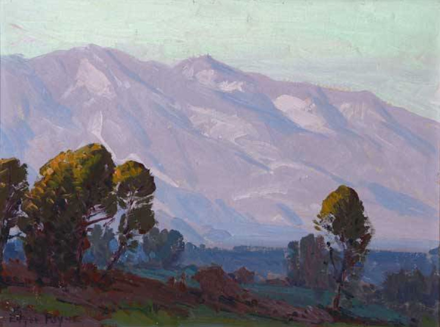 "Edgar Payne (1882-1947)   -  ""Hills of Lavender"",  San Gabriel Valley"