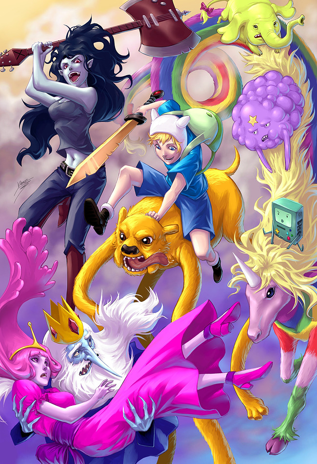iheartchaos:  More fan art of the day: THIS IS ADVENTURE TIME!