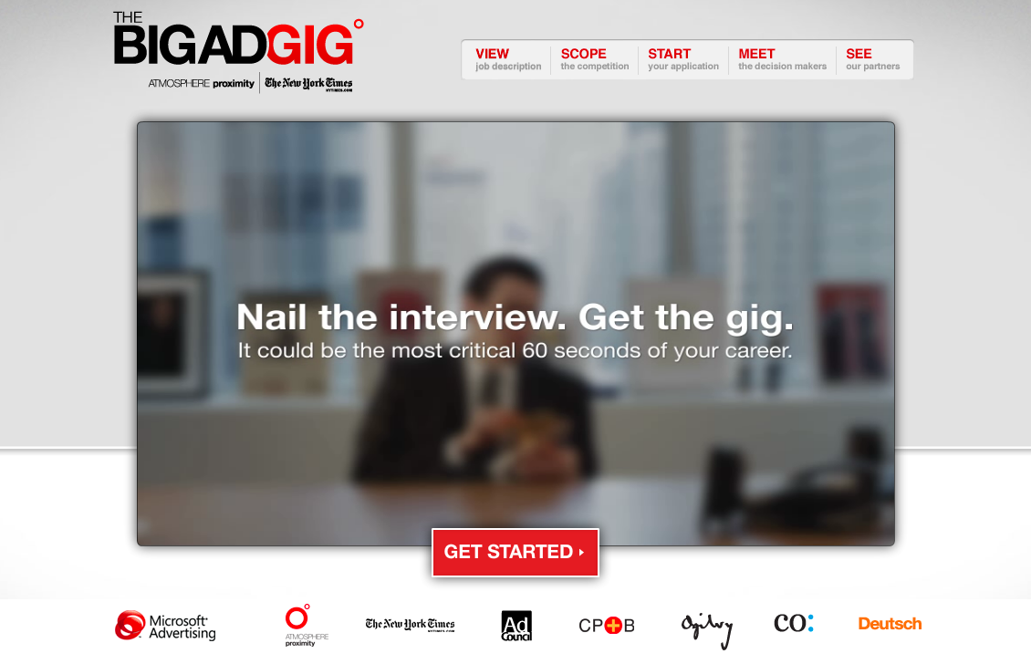 The Big Ad Gig 2012