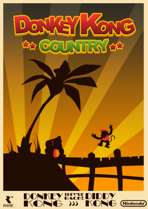 Donkey Kong Country Poster Created by JabasXD (via:theprimal)