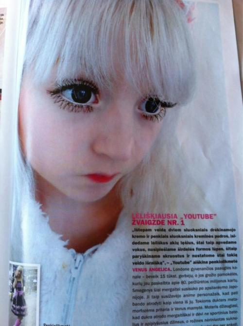 Me in a Lithuanian magazine. Thank you my magical fangelics! <33333