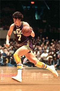 "This Day In Basketball History: August 11, 1977 - ""Pistol Pete"" Maravich signs a five-year contract with the New Orleans Jazz for $3 million.  keepinitrealsports.tumblr.com  pinterest.com/mysterkeepinit  keepinitrealsports.wordpress.com  facebook.com/pages/KeepinitRealSports/250933458354216  Mobile- m.keepinitrealsports.com"
