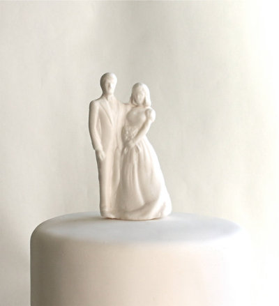 """Bride & Groom"" Sugar Topper by andiespecialtysweets"
